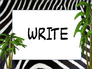 Zebra/Jungle theme I'm done now what?