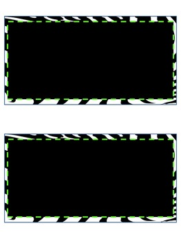Zebra/Lime Helper Set