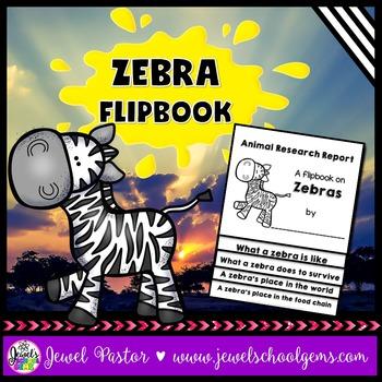 Zebra Science Activities (Zebra Research Flipbook)