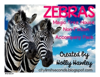 Zebras: A Non-Fiction Magic Tree House Accompany Pack