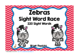 Zebras Sight Word Race