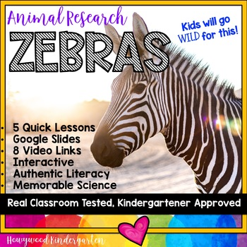 Zebras ...  Zoo Animal Research Mixed w/ Authentic Literacy Practice!