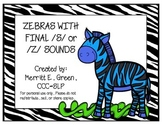 Zebras with Final /s/ or /z/ Sounds