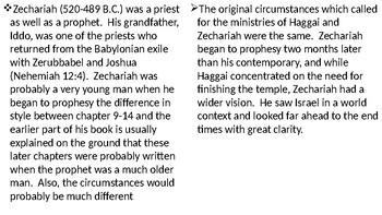 Zechariah Power Point Notes