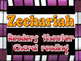 Zechariah: choral reading and reader's theater