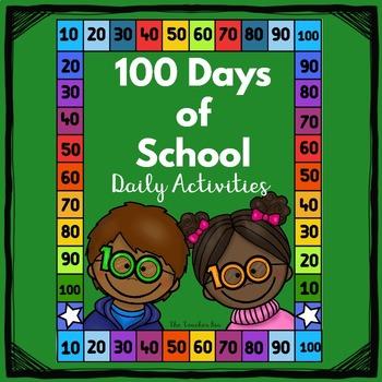 -Kindergarten , 1st Grade--100 Days of School- Daily Activities!