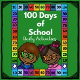-Kindergarten , 1st Grade--100 Days of School- Daily Activities!