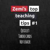 Zemi's top teaching tips #1 (1-3)