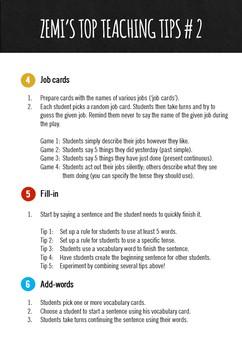Zemi's top teaching tips #2 (4-6)