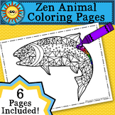 Zen Animal Coloring Pages