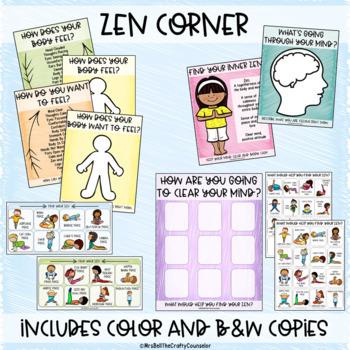 zen calm down corner yoga basedmrs bell the crafty