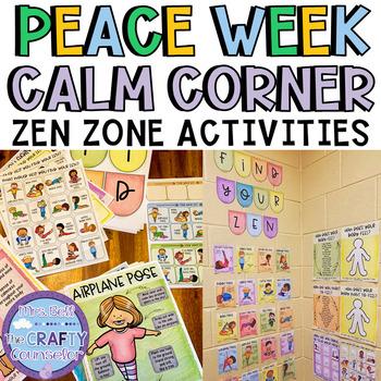 zen calm down corner and activities yoga based  tpt
