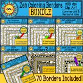 Zen Coloring Borders Clip Art Bundle