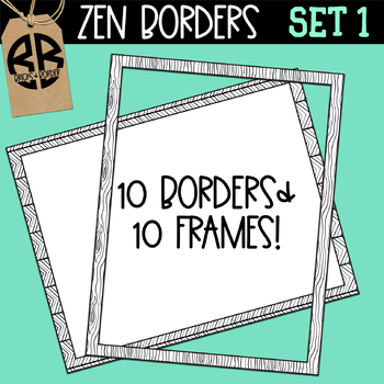 Zen Coloring Page Borders