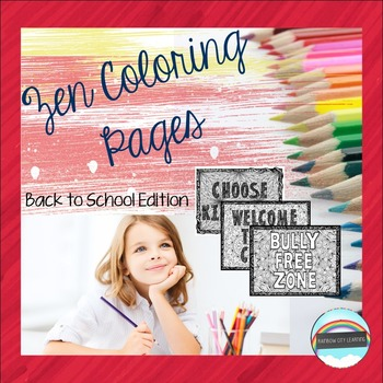 Zen Coloring Pages Back to School Edition
