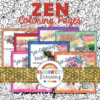 Zen Coloring Pages Bundle