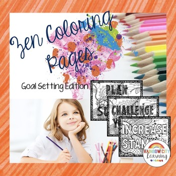 Zen Coloring Pages Goal Setting Edition