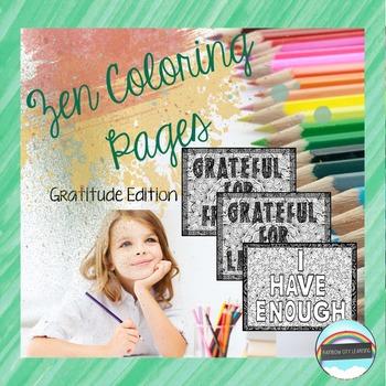 Zen Coloring Pages Gratitude Edition