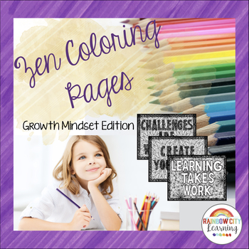 Zen Coloring Pages Growth Mindset Edition