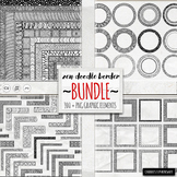Zen Doodle Border BUNDLE, Geometric Labels & Coloring Bord