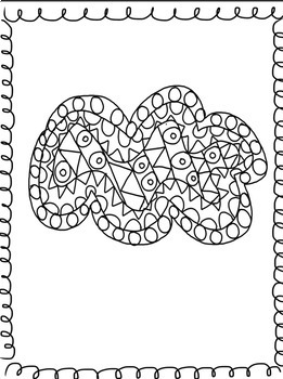 Weather Theme Doodle Coloring Activity Pages