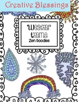 Hand Drawn Weather Theme Doodle Coloring Activity Pages  Down Time