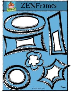 Zen Frames {P4 Clips Trioriginals Digital Clip Art}