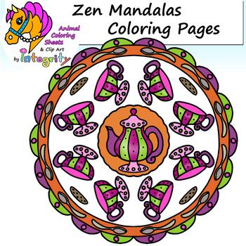 Zen Mandala Coloring Sheets - Design - Abstract - Pattern - Art - Fun