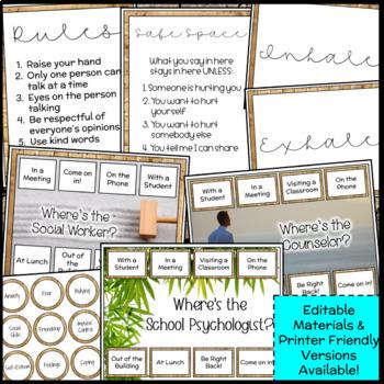 Zen & Nature Counseling Decor Set