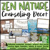 Zen & Nature Counseling Office Decor Set