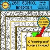 Zen School Coloring Borders Clip Art