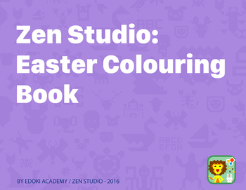 Zen Studio: Easter Colouring Book