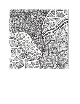 Zen Tangle Art Project