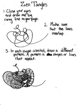 Zen Tangle Relaxation Scaffolded Directions