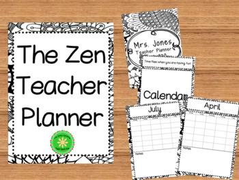 Teacher Planner and Binder (Zen)