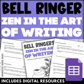 Zen in the Art of Writing Bell Ringers | 12-Day Chapter-By-Chapter Assessment