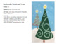 Zendoodle Christmas Tree directed painting - Pattern and Space