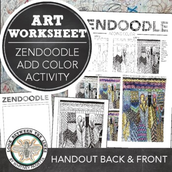 Zendoodle How To Add Color to Your Design Printable Handout, Visual Arts