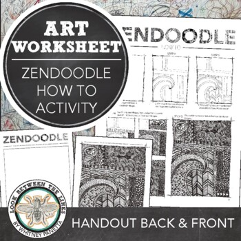 Zendoodle How to Create a Tangled Design: Printable Art Handout & Activity