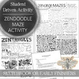 Zendoodle Maze Sketchbook Activity or Early Finishers Art
