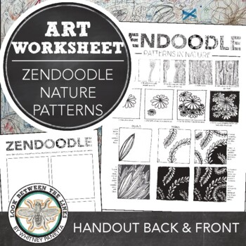 Zendoodle Printable Activity Sheet: Finding Patterns in Nature
