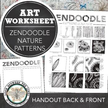 Zendoodle Printable Activity Sheet Finding Patterns In Nature TpT Inspiration Zendoodle Patterns