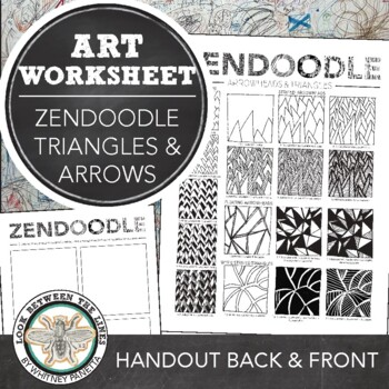 Zendoodle Printable Art Activity, Drawing Arrowheads and Triangle Patterns