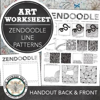 Zendoodle Printable Art Handout: Doodling Line Based Patterns