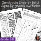 Zendoodle Sheets - Set 2 - Step by step zendoodle worksheets