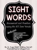 Sight Words Assessment and Practice Pack (107 Zeno High Fr
