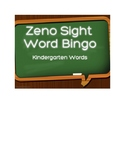 Zeno Sight Word Bingo Kindergarten Words