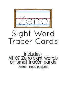 Zeno Sight Word Tracers