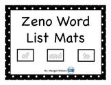 Kinesthetic Zeno Word List Mats