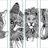 Zentangle Animal Conferencing Bookmarks